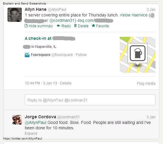 slow service tweets