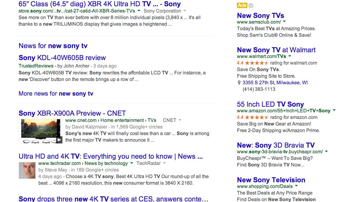 Google SERP Keywords