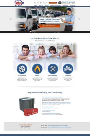 Esser Air Conditioning Website