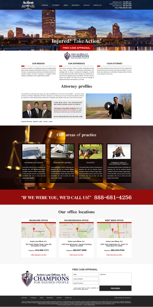 Action Law Offices Website